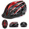 GUB A2 Riding Helmet with Rechargeable Taillight Adjustable Head Circumference with 9 Light Modes and 19 Air Hole - BLACK