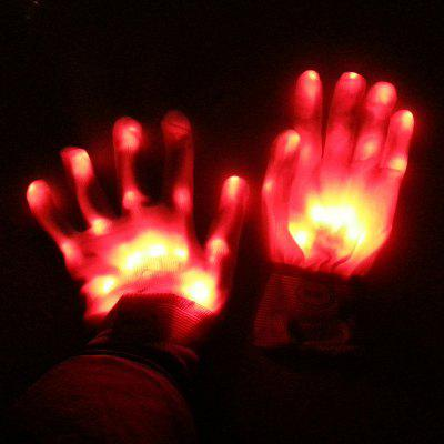 LED Lighting Stage Performance Glove Halloween Christmas Supply 1pcs
