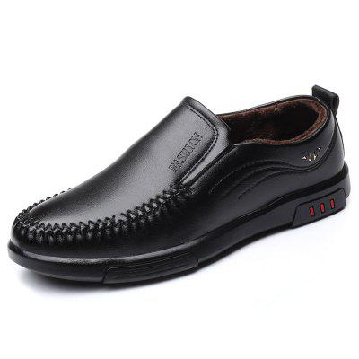 Autumn and Winter Men's Plus Velvet Casual Shoes