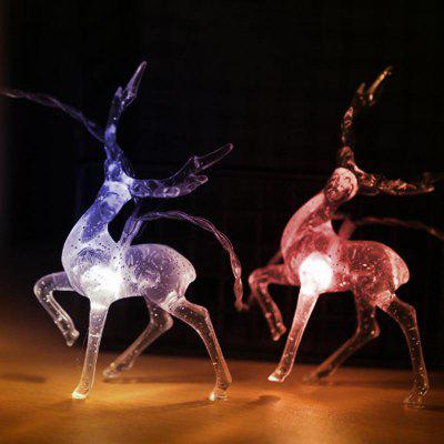 BRELONG Sika Deer Christmas Light String LED Battery Box Powered Holiday Decoratie