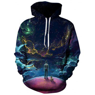 Digital Printing Long Sleeve Hooded Hoodie Casual Wild Couples Wear Baseball Uniform Sweatshirt