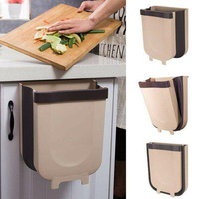 Household Folding Wall-hanging Waste Bin Large Capacity Space Saving Trash Can