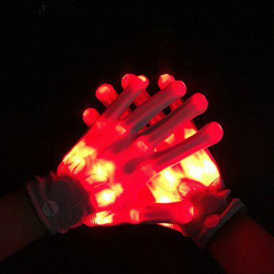 LED Lighting Stage Performance Glove Halloween Christmas Supplies 1pc