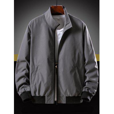 Men's Casual Jacket Solid Color Stand Collar