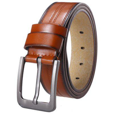 Fashion Alloy Pin Buckle Belt Trend Denim Stitching Leather Men's Waistband