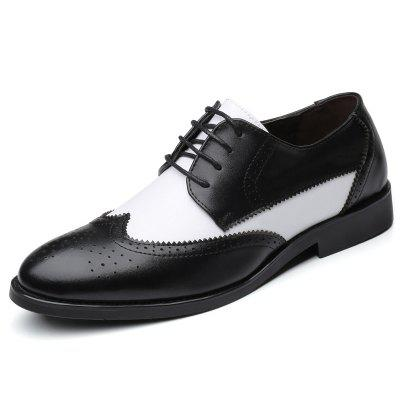 AILADUN Męska Anglia Style Business Casual Dress Shoes Obuwie Color Matching Big Yards
