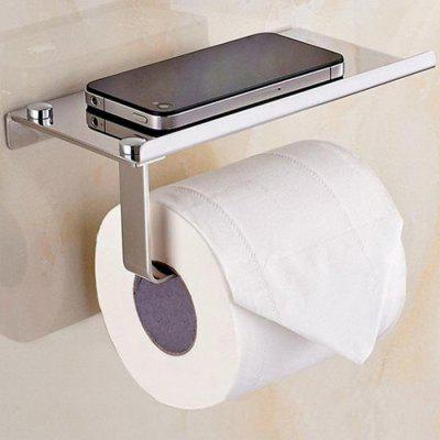 304 RVS Toiletpapier Holder Badkamer Phone Rack Mini Storage Box
