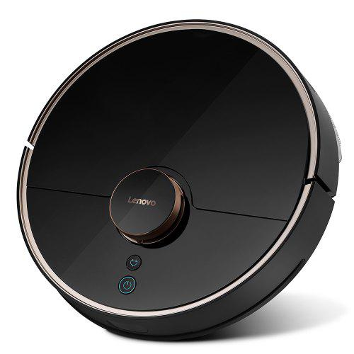 Gearbest Lenovo X1 LDS Lidar Laser Navigation Wet and Dry Robot Vacuum Cleaner 55dB Low Noise 2200Pa Suction 585ml Dust Box Auto Recharge Resumption Support Alexa - Black EU Plug