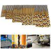 High Speed Steel Plated Titanium Twist Drill 50PCS - GOLD