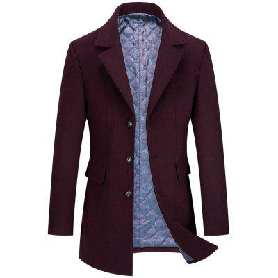 Men's Autumn and Winter Quilted Wool Coat
