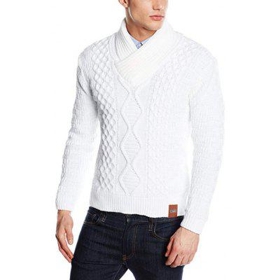Men's Fashion  Solid Color Knit Sweater with Pattern