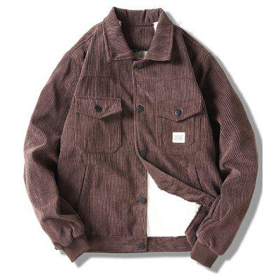 Heren Warm Velvet Corduroy Jacket