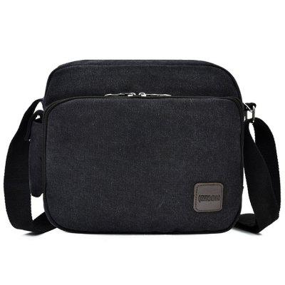 Men's Canvas Casual Business Crossbody Bag Practical Multi-pocket