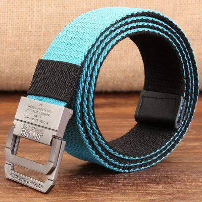Double Buckle Canvas Belt Unisex Outdoor Casual Woven pas