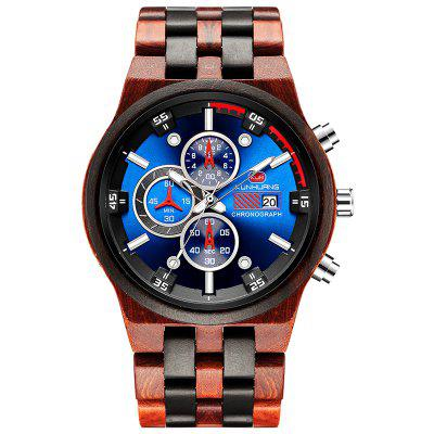 KUNHUANG KH1020 mannen Multifunctionele Quartz horloge Fashion Luminous Sports