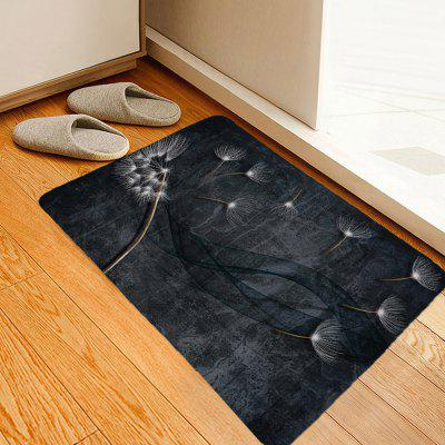 Shanghaojupin Simple Dandelion Printing Non-slip Carpet Fashion Polyester Mat