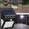 3 Sides Surface Emission Solar Power Body Sensor PIR Wall Light Outdoor IP64 Waterproof Lamp - BLACK
