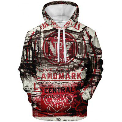 Mannen Personality Cool Realistische Printing capuchon Creative Pattern Casual Top Hoody