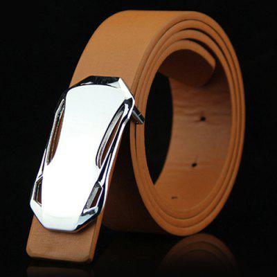 Personality Car Shape Men's Smooth Buckle Belt Simple Casual Waistband
