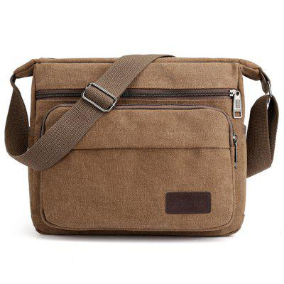 Men's Canvas Crossbody Bag Casual Fashion Tide Retro Travel Simple Pack