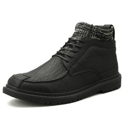 Mannen herfst en winter Brock Style Casual Leather Kousen Boots