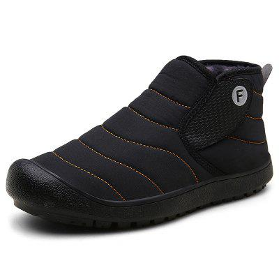 AILADUN Men Mid-high Slip-on Snow Boots Outdoor Leisure Shoes Large Size