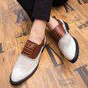 AILADUN Men's Brock Style Carved Colorblock Leather Shoes - BROWN