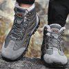 AILADUN Outdoor Mid Suede Water-resistant Cotton Men's Boots Shoes - GRAY
