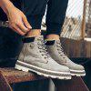 Men's British Work PU Leather Boots High-top Plus Velvet Thick Snow Shoes - COFFEE