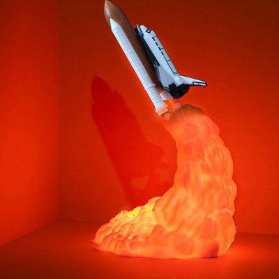 3D Printing Rocket Lamp USB oplaadbare LED Night Light Innovative Creative Home Decoration