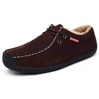 AILADUN Men's Round Toe Comfort Cotton Flat Shoes