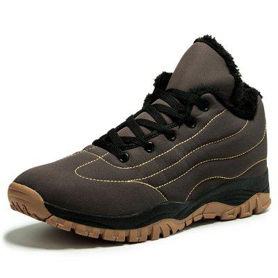 AILADUN Men's Large Size Cotton Boots Outdoor Sports Hiking Leisure Shoes