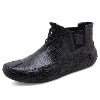 High-end Thai Crocodile Leather Men's Casual Boots Shoes
