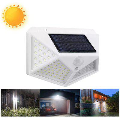 100 LED Solar Powered 600lm PIR Motion Sensor Ściana Światło Outdoor Garden Lamp 3 tryby