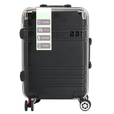 ABS + PC Material Rolling Luggage Trolley Case Travel Suitcase with Aluminum Alloy Trolley 3-digit Combination Lock