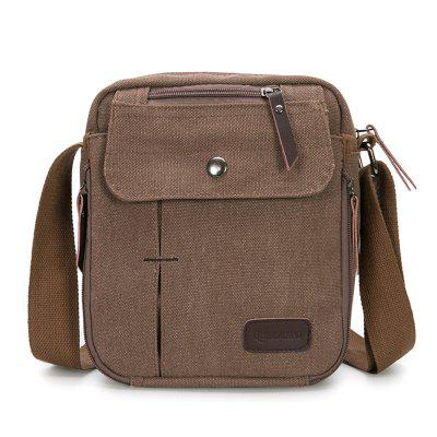 Fashion Men's Business Casual Canvas Crossbody Bag