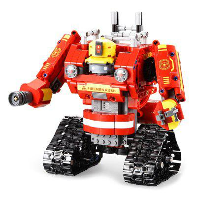 CaDA C51048W DIY 2.4G 2-in-1 Building Blocks RC Tank Truck Robot Assembled Toy