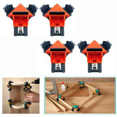 Woodworking 90 Degree Right Angle Clip Quick Picture Frame Corner Clamp 4pcs