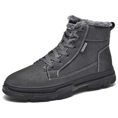 AILADUN Men Snow Boots Plus catifea High-top de bumbac