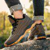 AILADUN Men's Large Size Cotton Boots Outdoor Sports Hiking Leisure Shoes - BROWN