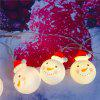 LED Christmas Snowman Outdoor decoratie licht String 3m 20 Lamp - WIT