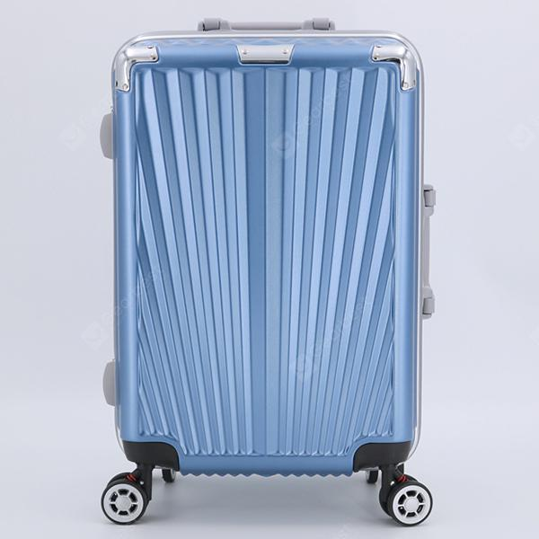 Color : Black, Size : 27 Lcslj PC Aluminum Frame 25 inch Trolley case Business Travel Retro Suitcase