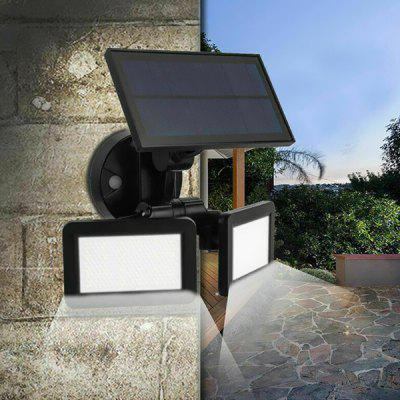 Solar Powered 360 Degrees Radar Sensor 48 LED Wall Light