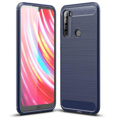 ASLING TPU Soft Shell Carbon Fiber Back Cover Anti Drop Full Protective Phone Case for Xiaomi Redmi Note 8T