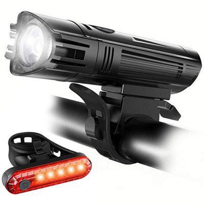 Bicycle Headlight Taillight USB Charging Mountain Bike Riding Light