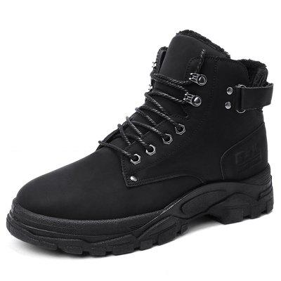 Winter Men's PU lederen snowboots Waterbestendig Cotton Schoenen