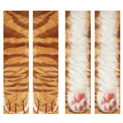 Unisex Adult Animal Paw Print Crew Socks Creative 3D Printing Stockings