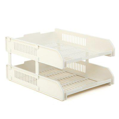 File Tray Multilayer File Shelf Bookshelf Office Supplies