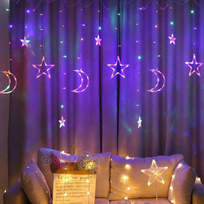 LED Star Moon Gordijn Light String Festival Street Party Decoration