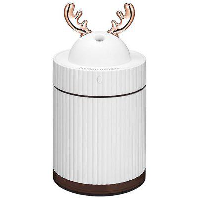 USB Ultrasonic Air Humidifier Cool Mist Mini Elk Horn 260ml Air Diffuser Purifier with Night Light
